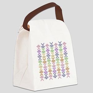 Baby Rainbow Sloth Canvas Lunch Bag