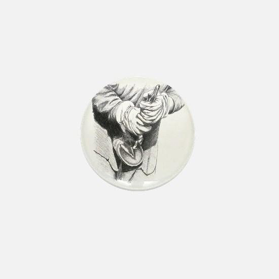 Farrier, cowboy Mini Button