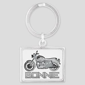 Bonnie Motorcycle Landscape Keychain