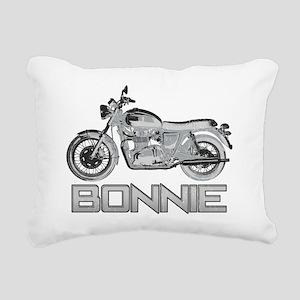 Bonnie Motorcycle Rectangular Canvas Pillow