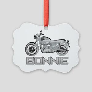 Bonnie Motorcycle Picture Ornament