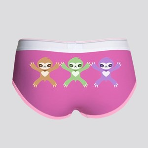 Baby Rainbow Sloths Women's Boy Brief