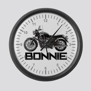 Bonnie Motorcycle Large Wall Clock