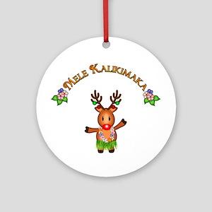 Mele Kalikimaka Ornament (Round)