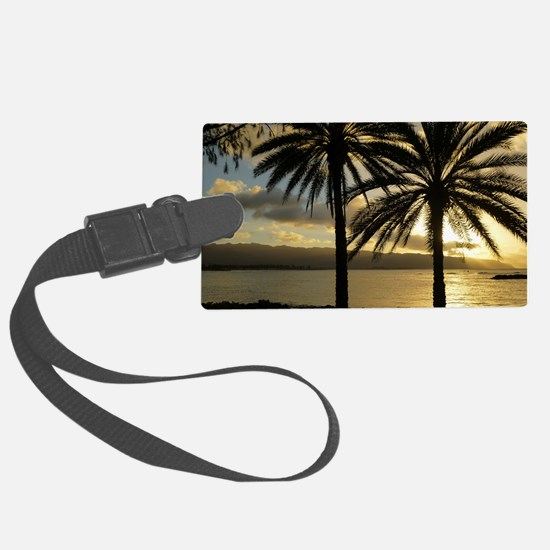 Sunset North Shore Oahu Luggage Tag
