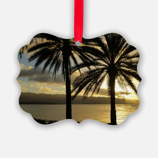 Sunset North Shore Oahu Ornament