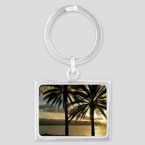 Sunset North Shore Oahu Landscape Keychain