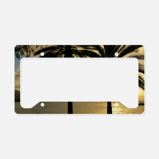 Sunset North Shore Oahu License Plate Holder