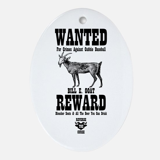 Wanted - The Goat Oval Ornament