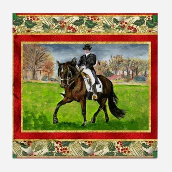 Alter Real Horse Christmas Tile Coaster