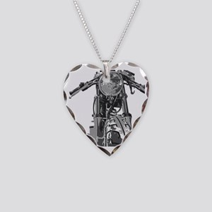 Bonnie Motorcycle Necklace Heart Charm