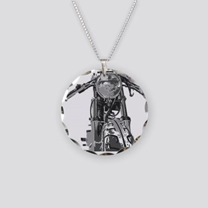Bonnie Motorcycle Necklace Circle Charm