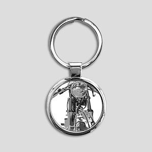 Bonnie Motorcycle Round Keychain