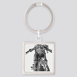Bonnie Motorcycle Square Keychain