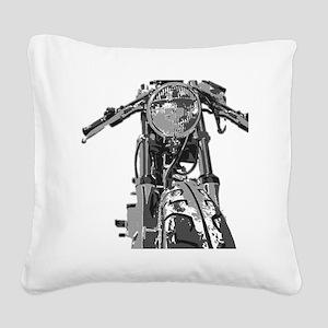 Bonnie Motorcycle Square Canvas Pillow