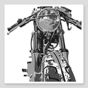 "Bonnie Motorcycle Square Car Magnet 3"" x 3"""