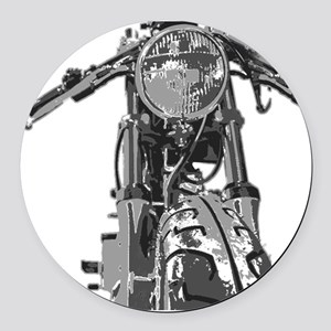 Bonnie Motorcycle Round Car Magnet