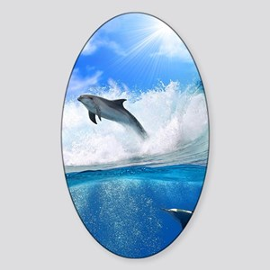 Dolphin Sticker (Oval)