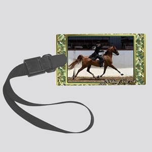 American Saddlebred Horse Christ Large Luggage Tag