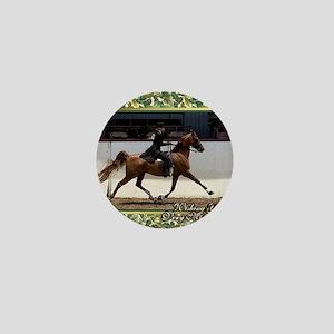American Saddlebred Horse Christmas Mini Button