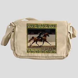 American Saddlebred Horse Christmas Messenger Bag