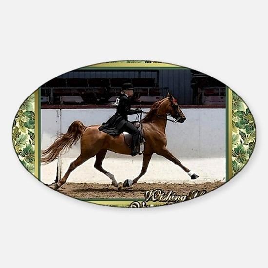 American Saddlebred Horse Christmas Sticker (Oval)