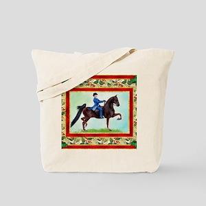 American Saddlebred Horse Christmas Tote Bag