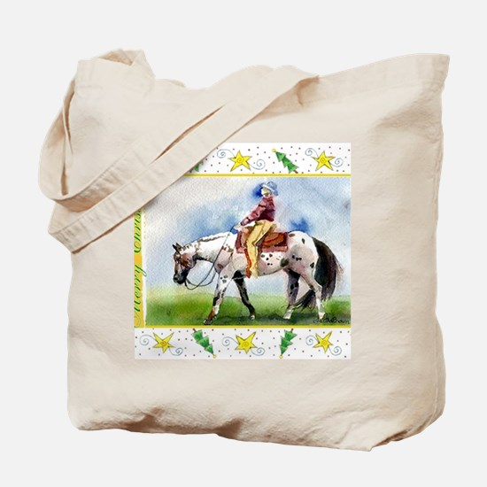 Appaloosa Horse Christmas Tote Bag