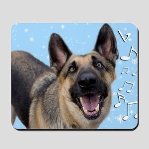 German Shepherd Chrismas Card Mousepad
