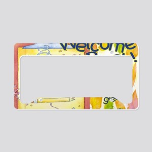 back to school clipboard License Plate Holder