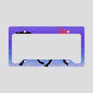 Horse, Love and Hearts License Plate Holder