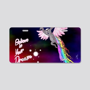 Believe In Your Dreams Slot Aluminum License Plate