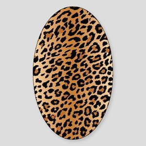 Leopard Print Sticker (Oval)