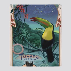 Art Nouveau Toucan Throw Blanket