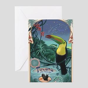 Art Nouveau Toucan Greeting Card