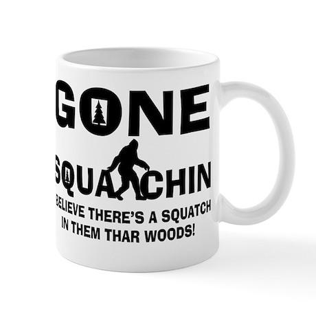 Gone Squatchin Bigfoot In Woods Mug