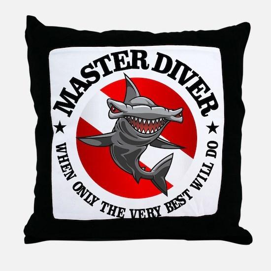 Master Diver (Hammerhead) Throw Pillow
