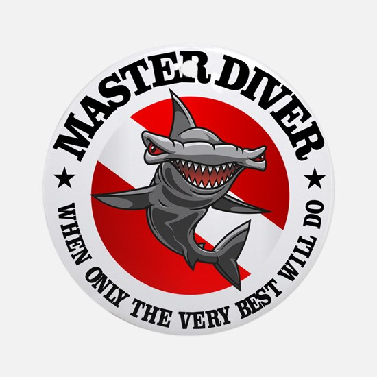 Master Diver (Hammerhead) Round Ornament