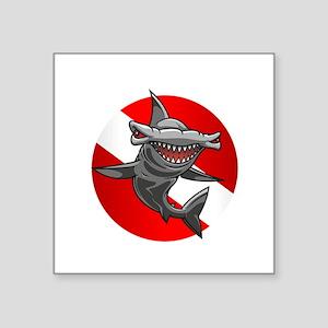 """Master Diver (Hammerhead) Square Sticker 3"""" x 3"""""""