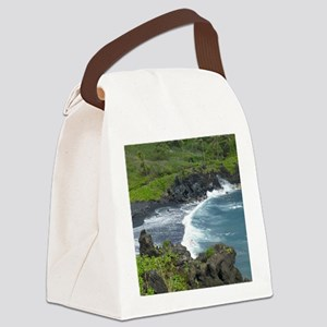 Black Sands Beach Maui Canvas Lunch Bag
