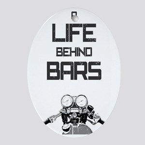 A Life Behind Bars Oval Ornament