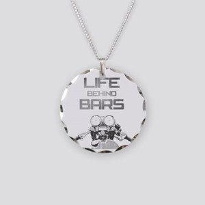 A Life Behind Bars Necklace Circle Charm