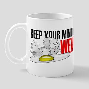 Keep Your Mind, Wear A Helmet Bmpr Stck Mug