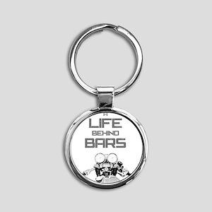 A Life Behind Bars Round Keychain