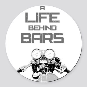 A Life Behind Bars Round Car Magnet
