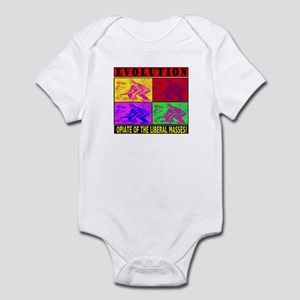 EVOLUTION IS THE OPIATE OF TH Infant Bodysuit