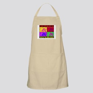 EVOLUTION IS THE OPIATE OF TH BBQ Apron
