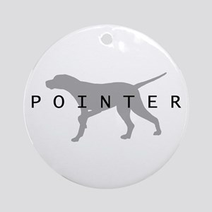 Pointer Dog Breed Ornament (Round)