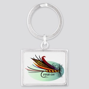 Fish On Landscape Keychain