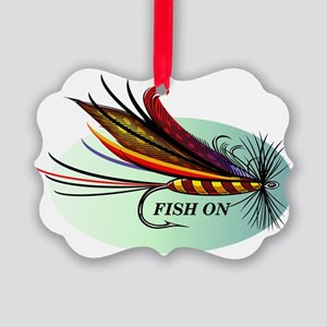 Fish On Picture Ornament